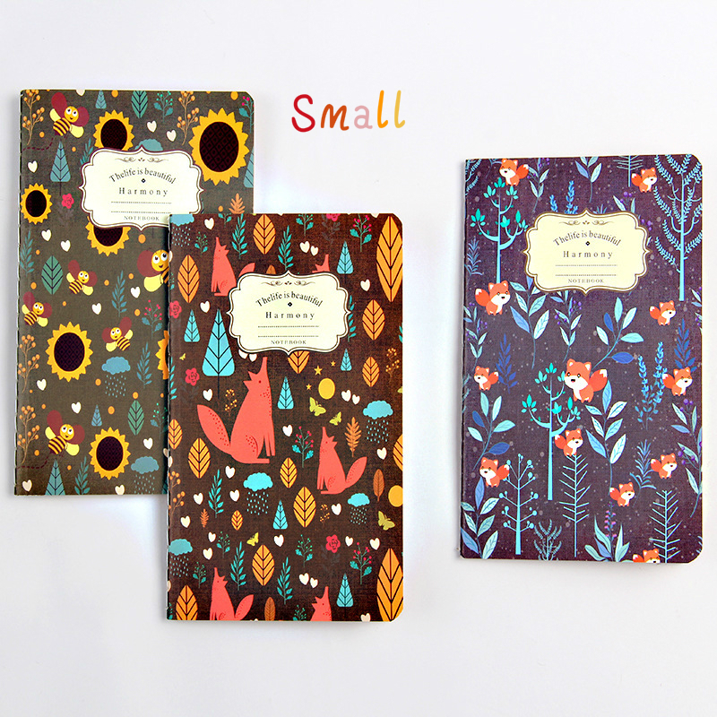 BPinteresting Pattern Restore Ancient Ways Kraft Small Notebook Flower Exquisite Manuscripts Small Gift SGBJB3/4 fashionable small red flower pattern 6cm width tie for men