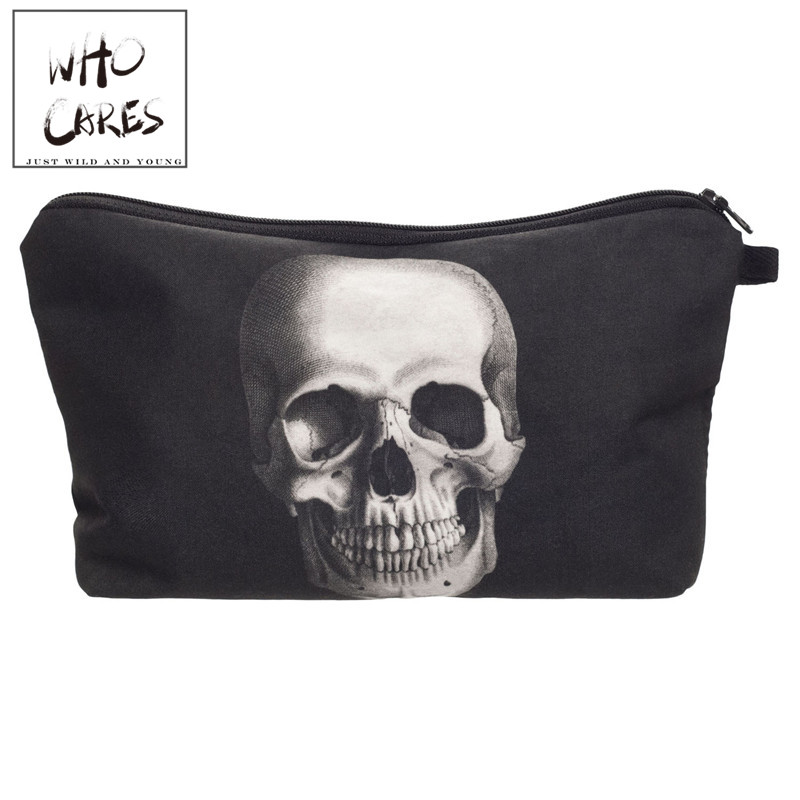 Skull Monster 3D Printing Makeup Bag 2018 Maleta de Maquiagem Cosmetic Bag necessaire bags Organizer Party neceser maquillaje unicorn 3d printing fashion makeup bag maleta de maquiagem cosmetic bag necessaire bags organizer party neceser maquillaje