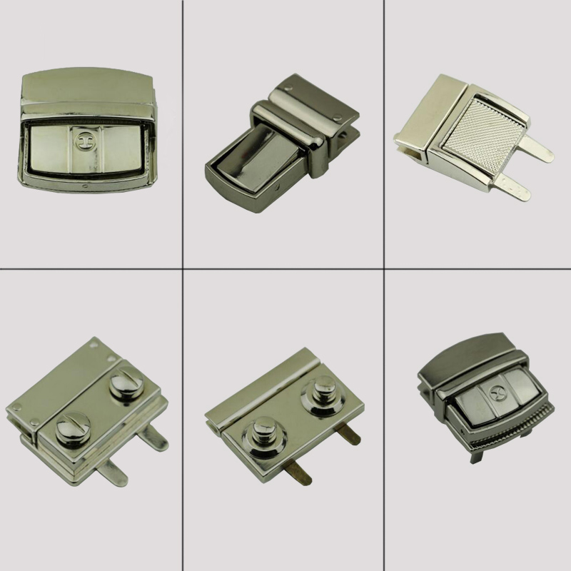 DIY Accessories Purse Snap Clasps Closure lock button accessories square metal mortise