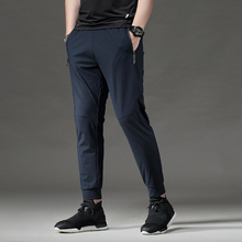 BINTUOSHI Running Pants Men With Zipper Pockets Workout pants Training Jogging Fitness Sport Trousers