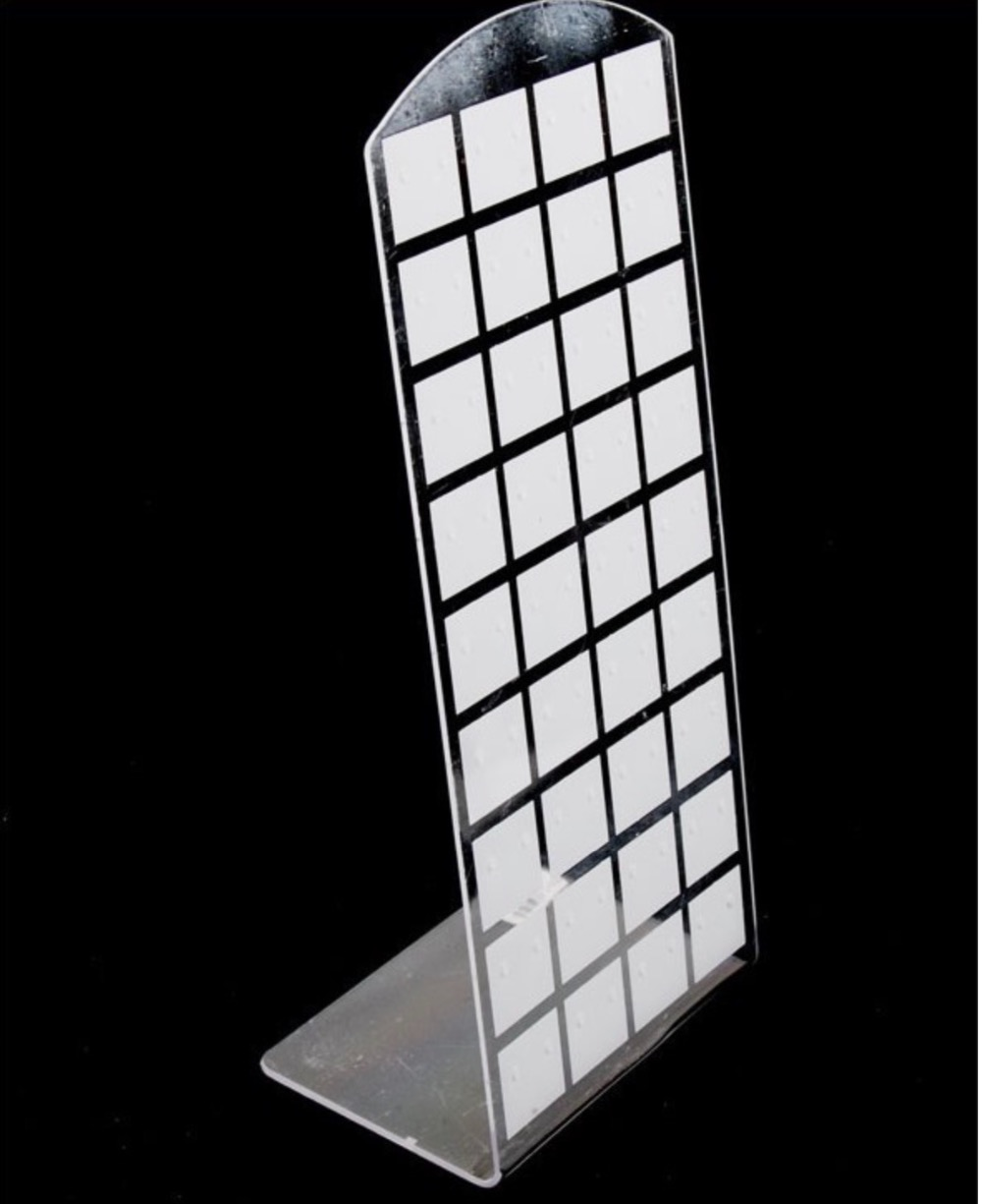 10Pieces/Lot H:18X9CM. L Shaped Earring Acrylic Stand Display Board Display Rack(Can Put 36pairs Earring)