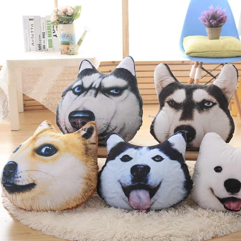 New Hot 3D Samoieda Cão Husky Brinquedos de Pelúcia Bonecos De Pelúcia Animais Travesseiro Sofá Carro Decorativo Criativo crianças Presente de Natal Aniversário