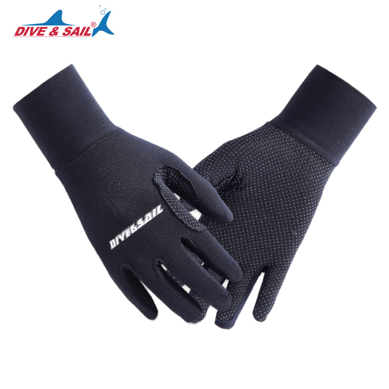 DIVE&SAIL Lycra Tight Diving Gloves for Men Women Kitesurfing Jet Ski Snorkeling Swimming Boating Keep Warm Anti-skid