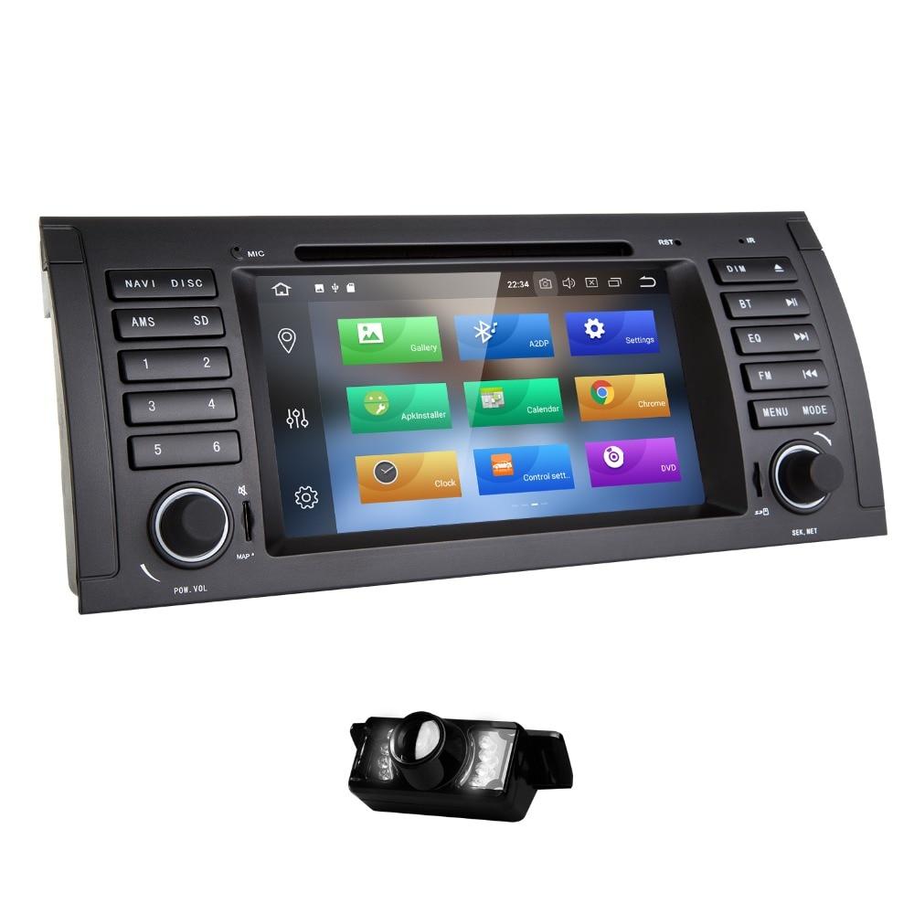 Lecteur DVD de voiture Hizpo Qcta Core 1 Din Android 8.0 pour BMW E39 bmw x5 e53 unité de tête multimédia StereoGPS 4G + 32 GB Wifi BT