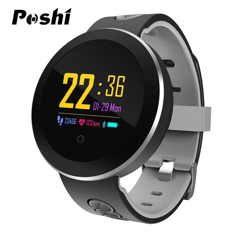 2019 New Round Smart Watch Men Women Waterproof Heart Rate Monitor Fitness Sport Watch Blood Pressure