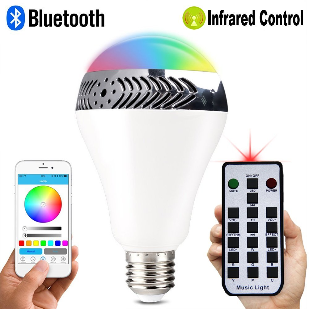 smartphone controlled lighting. New Bluetooth Smart LED Light Bulb Speaker Dimmable Multicolored Color Changing Bedside Desk Lights Smartphone Controlled-in Bulbs \u0026 Tubes From Controlled Lighting