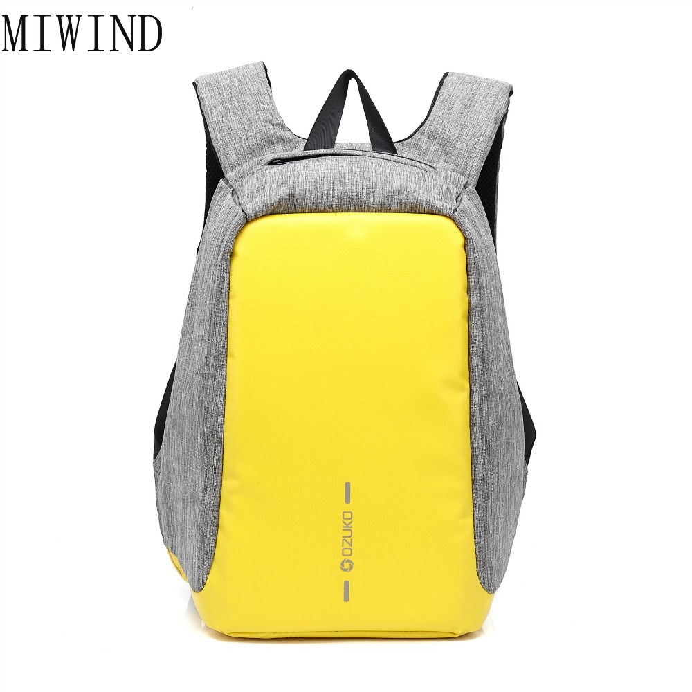 2017 Waterproof Men Women Backpack Anti-theft Business Backpack Bag for Laptop Computer External USB Charge TJY366 cool bell anti theft notebook backpack 15 6 inch waterproof computer backpack for men women external usb charge laptop bag