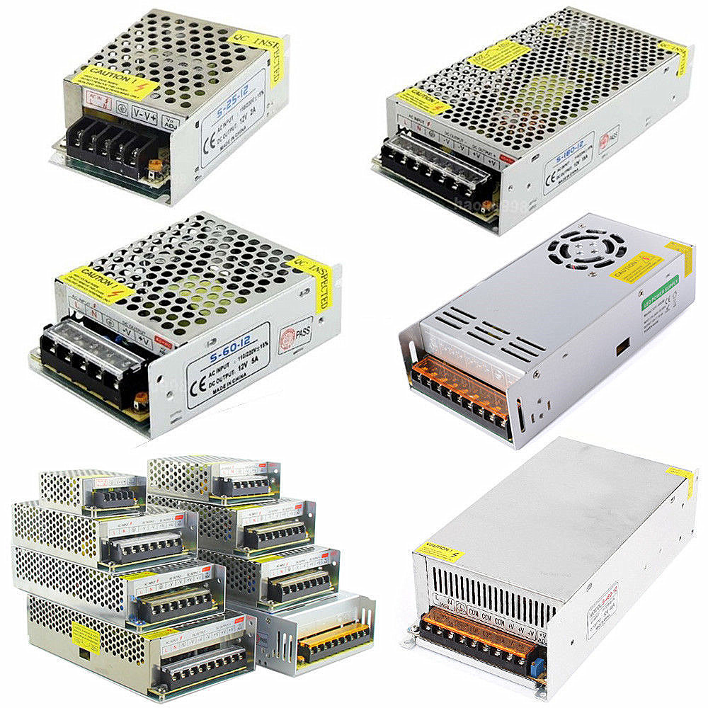 led Driver AC100-240V to DC 12V 1A 2A 3A 5A 10A 15A 20A 30A 40A 50A Power Adapter for LED Strip light Supply Transformer 201w led switching power supply 85 265ac input 40a 16 5a 8 3a 4 2a for led strip light power suply 5v 12v output