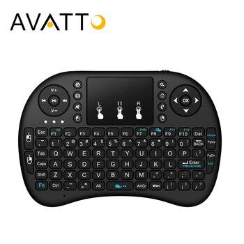 [AVATTO] английская, иврит, русская, Арабская i8 Мини игровая клавиатура с 2,4G беспроводная сенсорная панель для ПК, ноутбука, Android Box, Smart tv