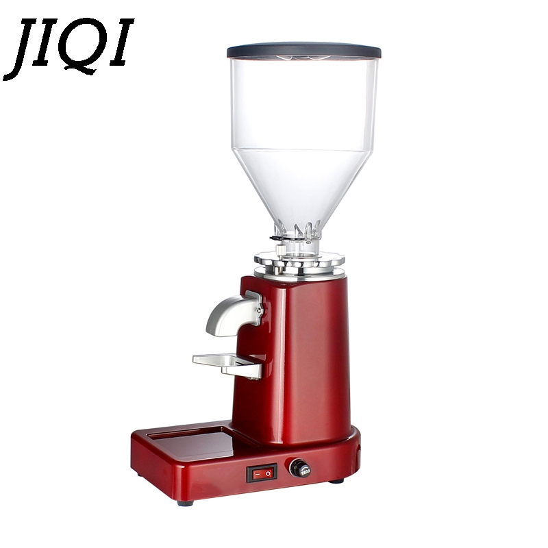 JIQI  Electric Coffee Bean Grinder Adjustable 0.5kg Capacity UK/EU/US Plug 220V 200W