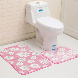 2pcs bathroom bath mat set non slip 45x50cm and 50x80cm/17.71x19.68in and 19.68x31.49in