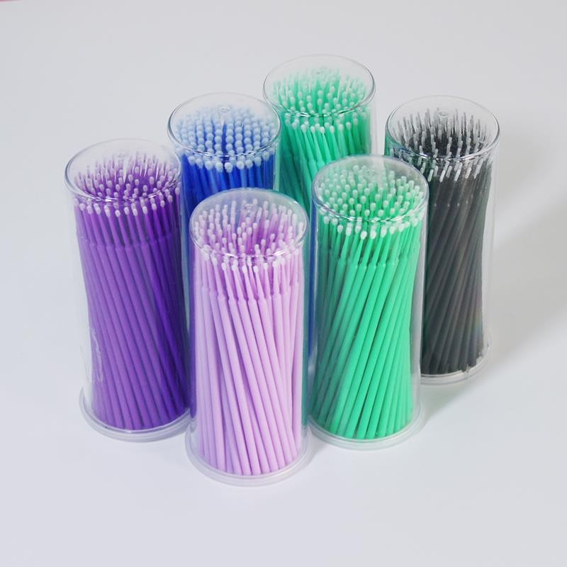 100pcs Disposable Brushes Cotton Swabs Tattoo Disposable Eyelash Extension Individual Applicator Microbrushes Eyelash Tools