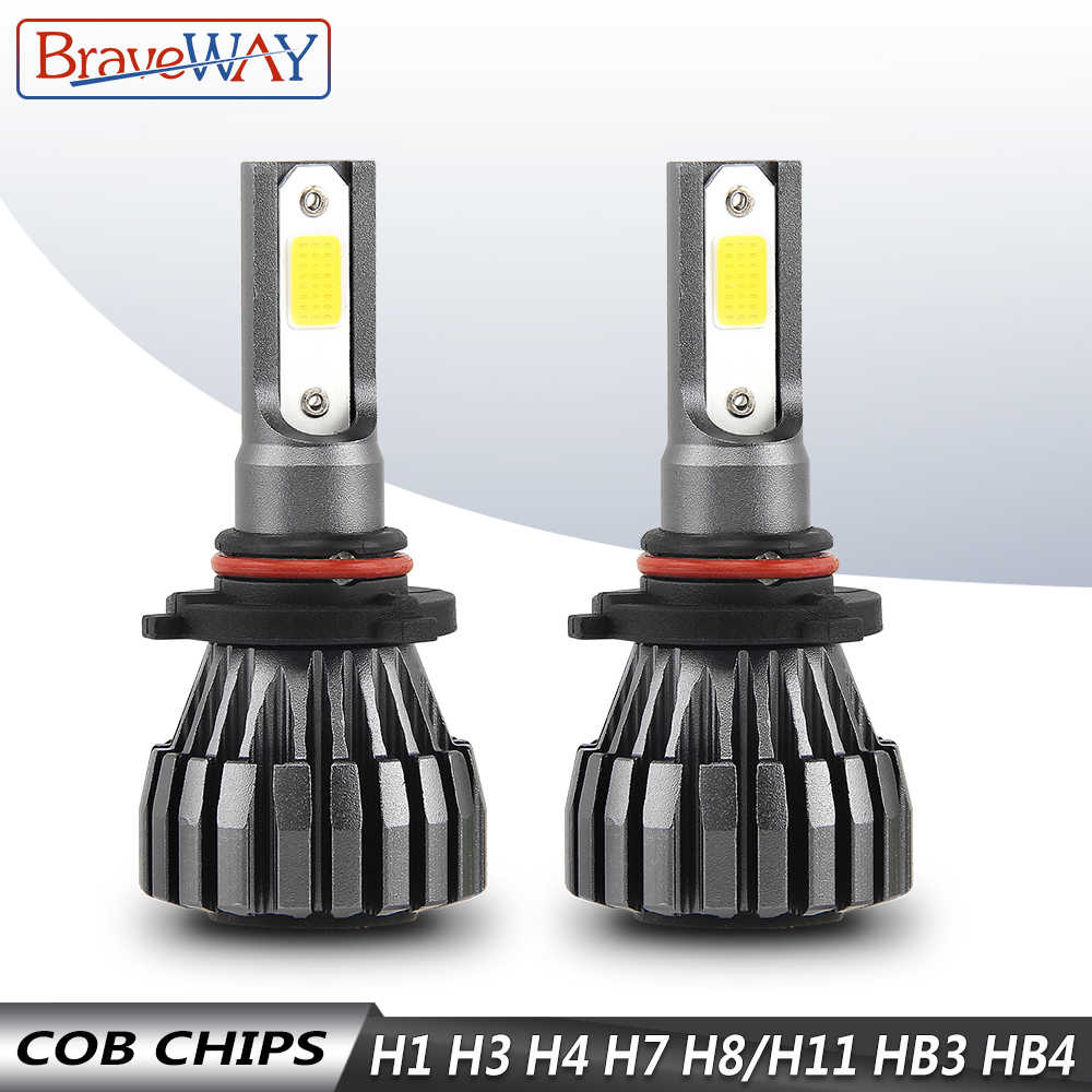 BraveWay LED Car Headlight for Car Motorcycle H1 H3 H4 H7 H8 H9 H11 9005 HB3 9006 HB4 Led Fog Light Bulb