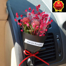 Auto Car Air Freshener Natural plants Dry Flower PVC Handmade Air Conditioning Cleaner Fragrancet Clip Gift Car Perfume Diffuser