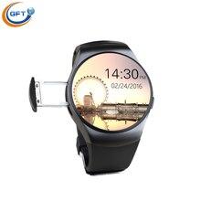 GFT KW18 neueste modell männer mode-stil smart uhr mit sim pulsmesser schrittzähler sport smartwatch für ios android telefon