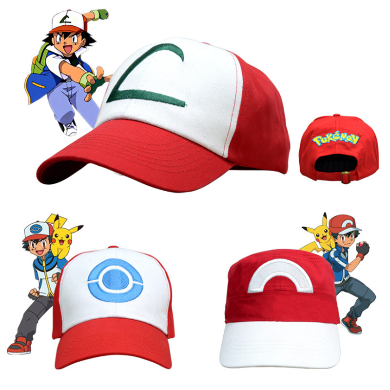 Anime  Pokemon Cap Pocket Monster Costumes Hats Halloween Party Cosplay Props