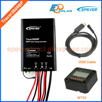 10A 24V Battery Charger solar controller MPPT EPEVER Tracer2606BP 130W 260W Solar panels system MT50 Meter and USB cable
