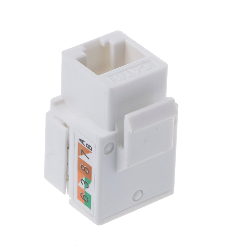 CAT6 Network Module Information Socket RJ45 Connector Adapter Keystone Jack 24 pcs rj45 modular network pcb jack 56 8p w led 4 ports