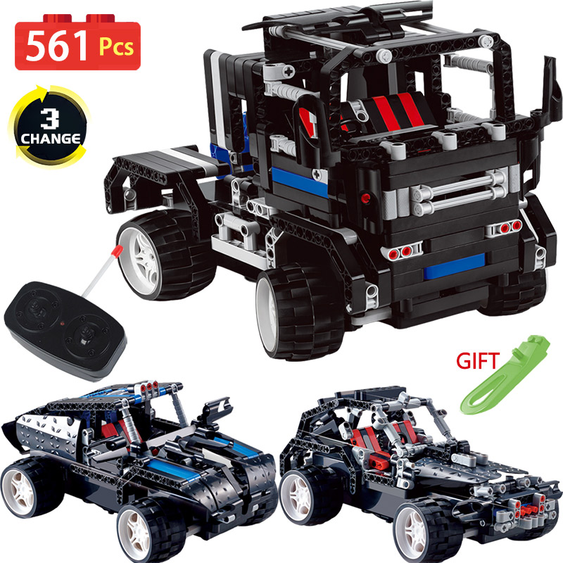 2WD Technic Vehicle LegoINGlys Radio Remote Control Machine RC Car Blocks Transformtion Series Truck Offroad DIY Toys For Kids 2 in 1 rc car compatible legoinglys radio technical vehicle green suv control blocks assembled blocks children toys gift
