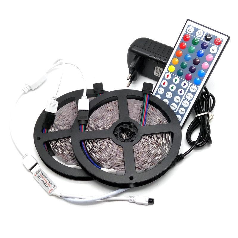 10M LED Strip Set SMD 5050 RGB 600LED Pita Fleksibel Lampu Hiasan - Pencahayaan LED - Foto 2