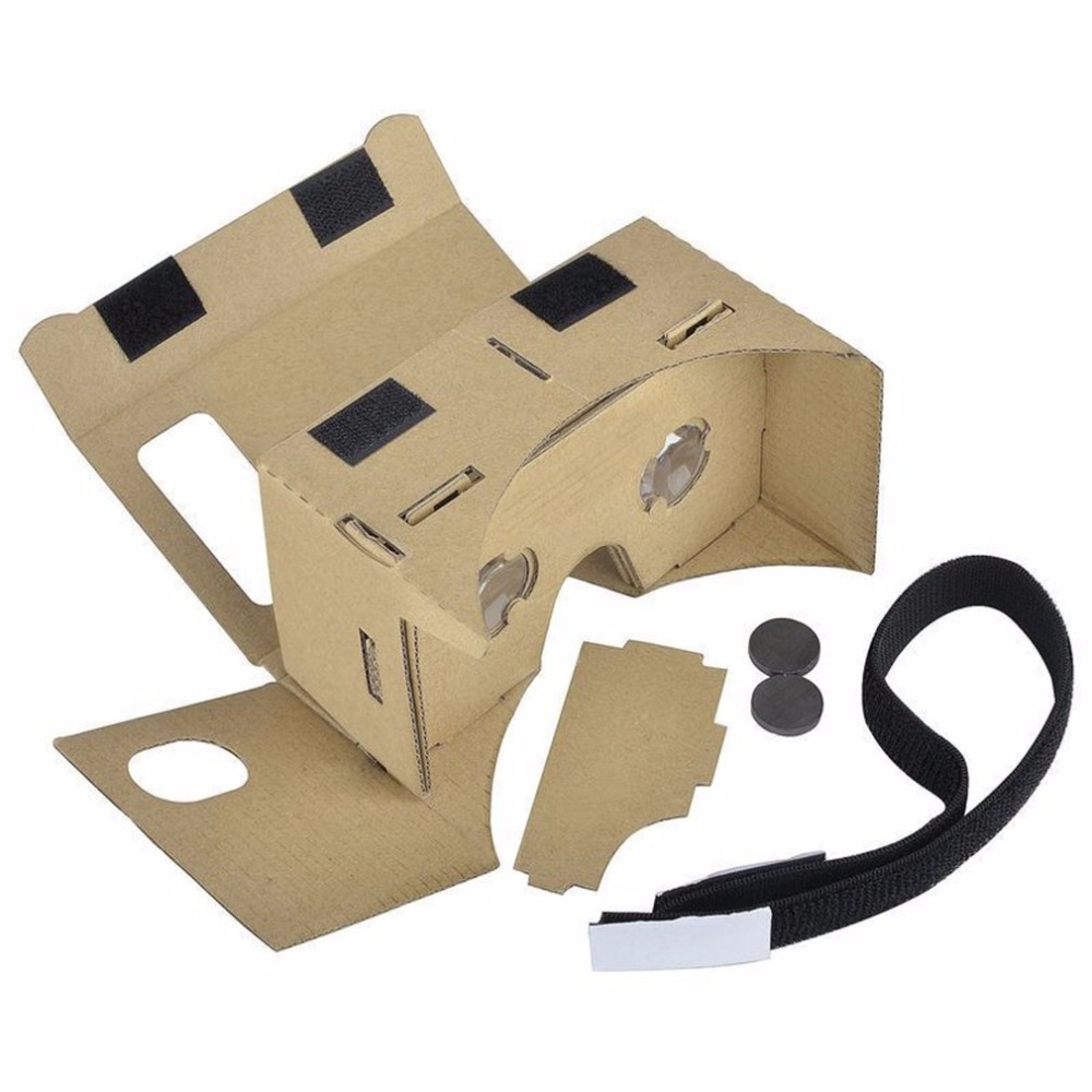 Diy Cardboard Ultra Clear 3d Virtual Reality Glasses For Smartphone