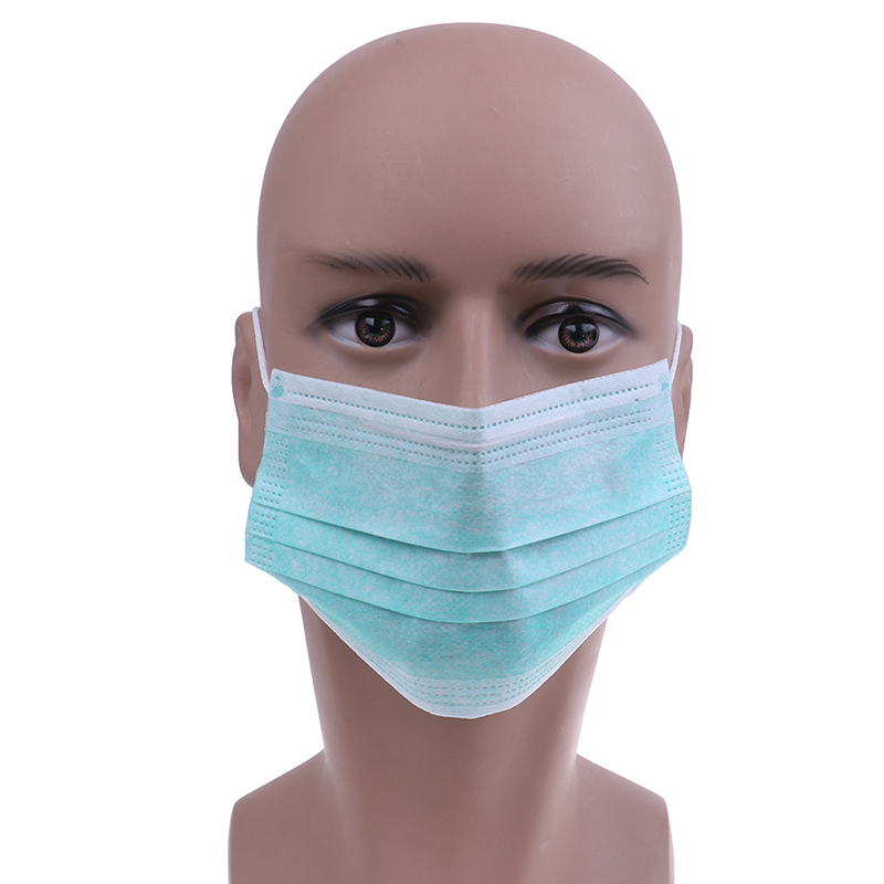 50pcs Non Woven Disposable Face Mask Medical Dental Earloop Activated Carbon Anti Dust Face Surgical Masks in Masks from Beauty Health