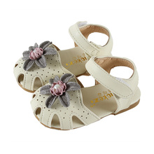COZULMA Kids Fashion Cut-outs Sandals Shoes For Girls Princess Pearl Flower Beach Sandals Children Baby Soft Sole Summer Shoes 3 colors 1 pair fashion girls children sandals princess shoes gladiator cut outs cool knee high boots cool girls footwear