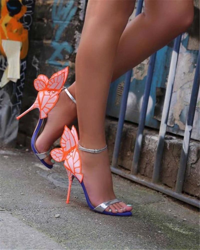 Sandalias Verano Alas Mujer De oro Colorido Sexy verde Zapatos Punta  Abierta Magnífico gris Estilete Bombas ... 9fc7ee1afc2