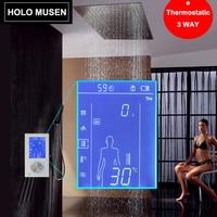 Lcd 스마트 터치 스크린 디지털 샤워 컨트롤 온도 조절기 샤워 믹서 온도 조절 식 샤워 패널 digitale douche thermostat