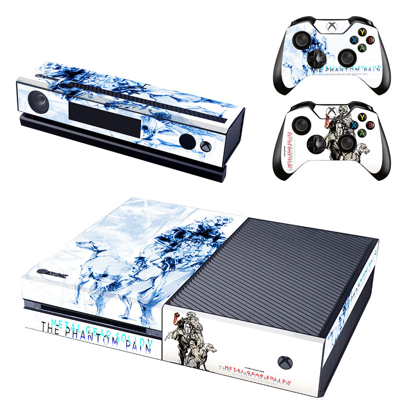 Metal Gear Solid V Decal Skin Sticker for Microsoft Xbox One Kinect and Console and 2 Controllers Vinyl Game Stickers
