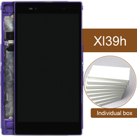 5pcs Black White Purple Display For Sony Xperia Z Ultra XL39h C6802 C6806 LCD Touch Screen