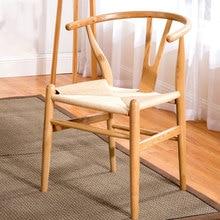 Стул из твердой древесины в западном стиле, стул для кафе, Домашний Деревянный компьютерный стул, складная спинка кресла