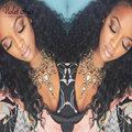8A Brasileiro Kinky Curly Virgem Cabelo Molhado E Ondulado Tecer boêmio tecer cabelo brasileiro 3 feixes queen hair products preto estrela