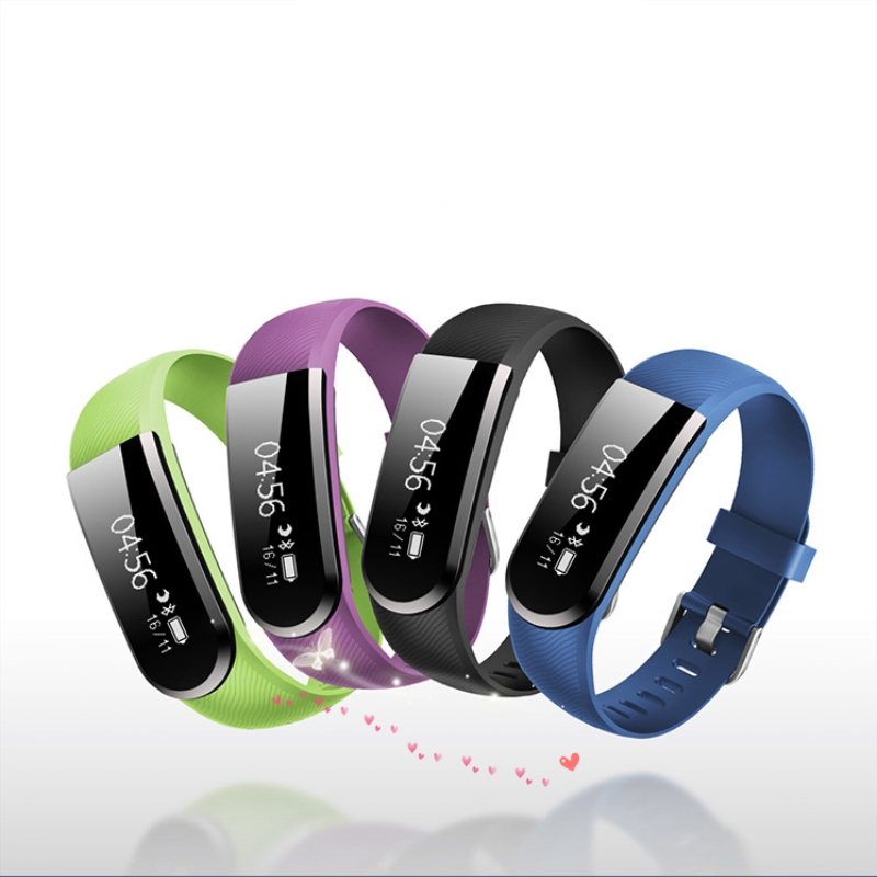 2018 Smart Bracelet Fitness Tracker Step Counter Activity Monitor Band Alarm Clock Vibration Wristband for iphone Android phone