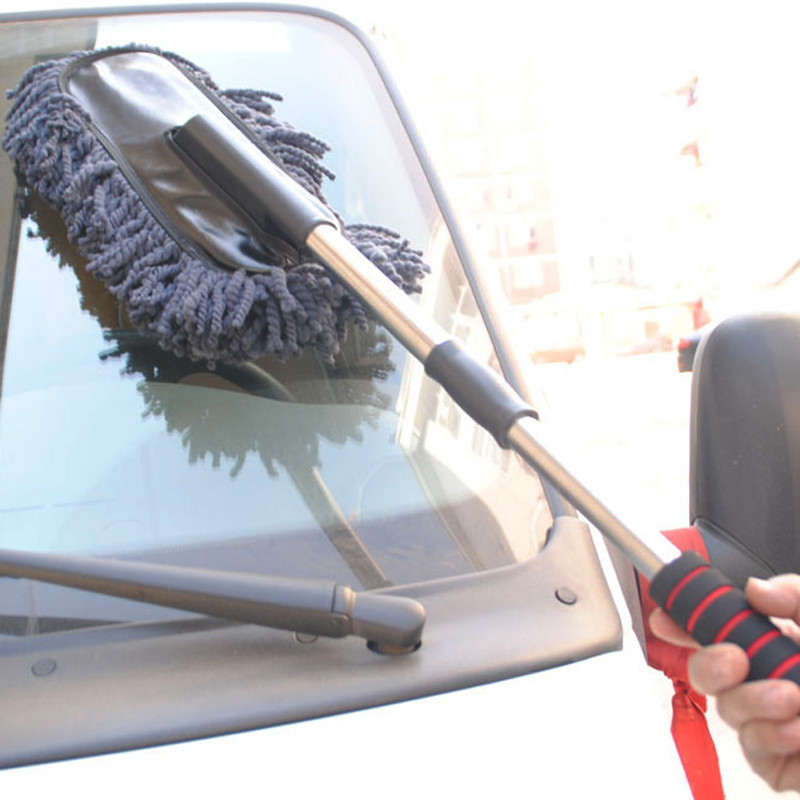 New Practical Car Cleaning Tools Wax Brush Auto Exterior Retractable Wash Brush Car Duster Dust Wax Drag With Long Handle