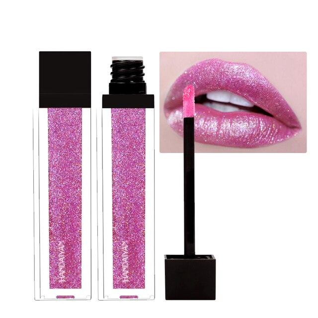 New Makeup HANDAIYAN Diamond Shining Glitter Lip Gloss Tint Long Lasting Waterproof Shimmer Liquid Velvet Lipstick Matte Beauty 4