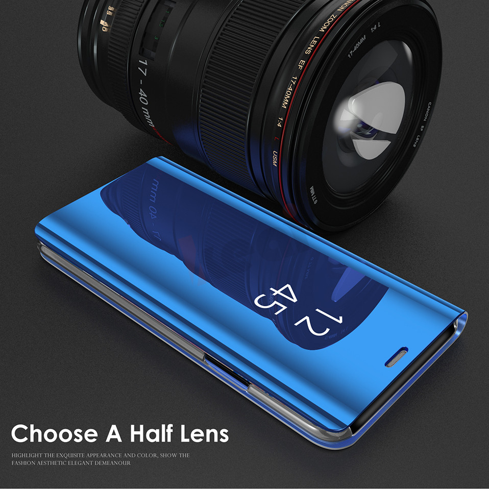Mirror Flip Standing Phone Cases For Samsung Galaxy S8 S8 Plus Case S7 Edge Note 8 Leather Cover For Samsung S9 Plus Bag