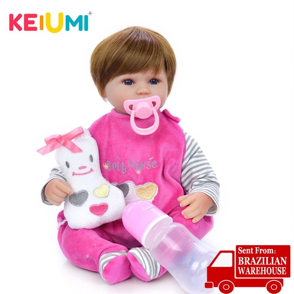 Quente macio reborn bebê vinil lifelike 17 educational educational educativo renascer boneca boneca menina playmate bonecas recheadas para crianças presente de aniversário