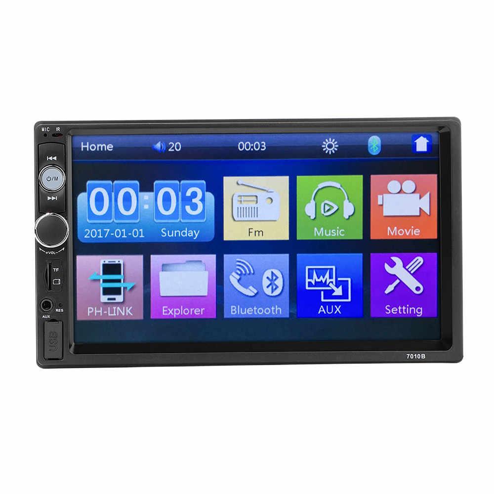 Universal 7 pulgadas 2 Din coche Multimedia Radio MP5 reproductor BT HD Unidad de cabezal de Audio J1