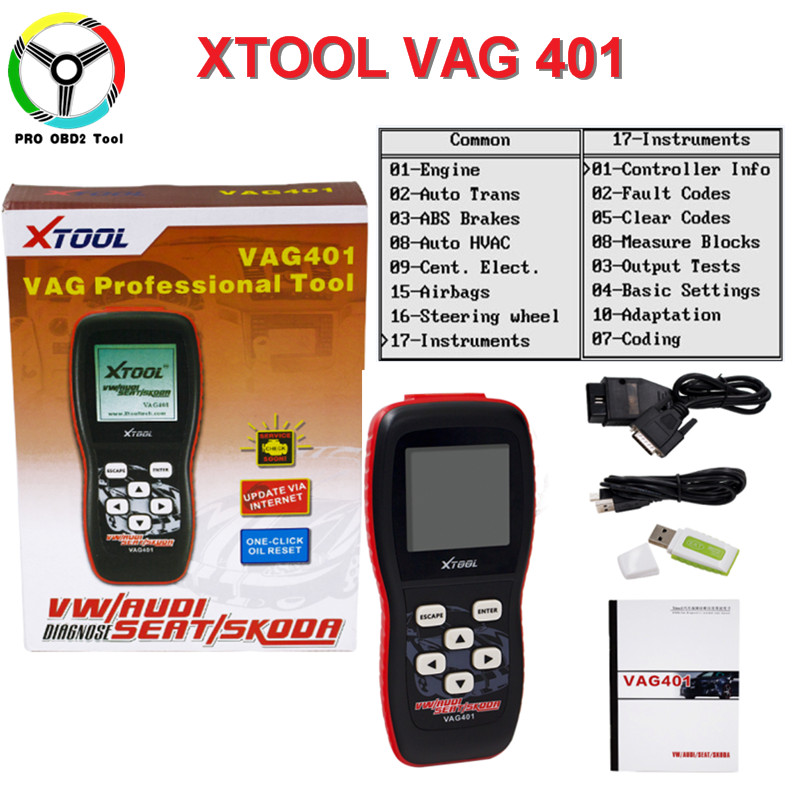 Newest 100% XTOOL VAG401 OBD2 Auto Diagnostic Tool For Audi/VW/SEAT/SKODA VAG 401 Code Reader Free Update Online Free Shipping pricing off best ecu unlock tool immobilizer bypass for audi skoda seat vw car immobilizer bypass free shipping