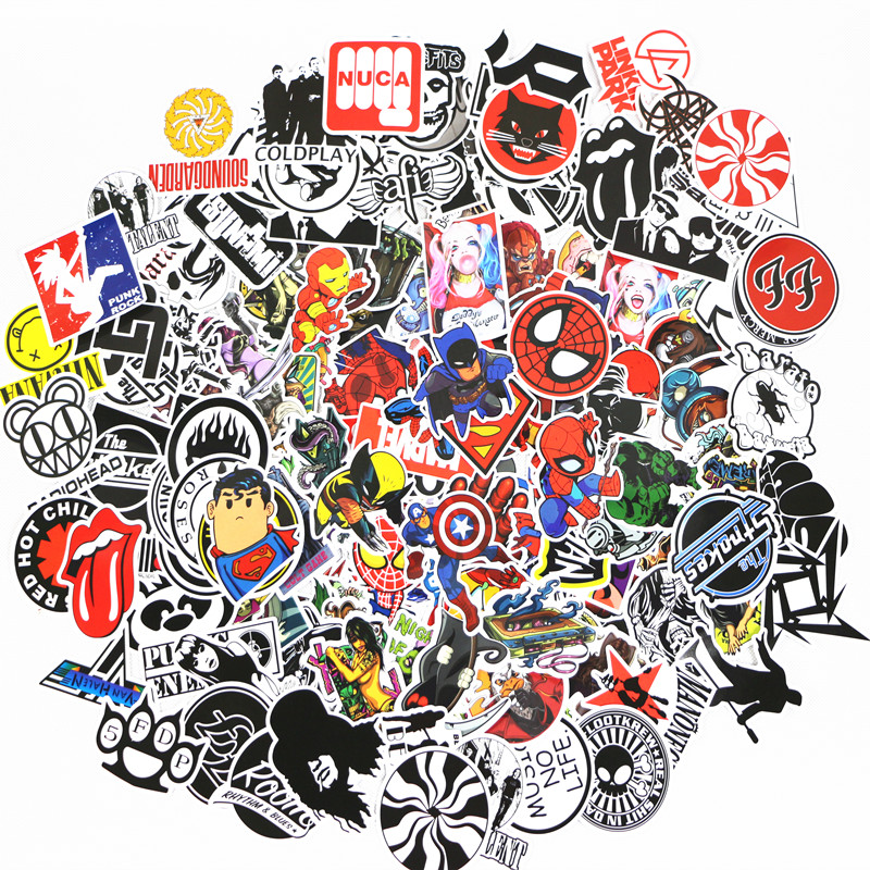 50 Pcs/pack Stickers Classic Fashion Style Graffiti Stickers For Moto Car Suitcase Cool Laptop Cartoon Anime Skateboard Sticker