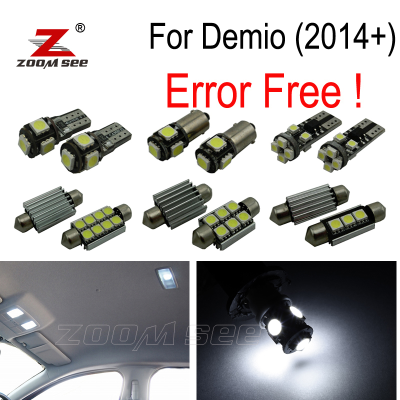 11pcs Error free LED license plate lamp + interior lights kit + Backup Reverse Bulb for Mazda for Demio DJ for Mazda 2 (2014+) 2pcs high quality superb error free 5050 smd 360 degrees led backup reverse light bulbs t20 for hyundai i30