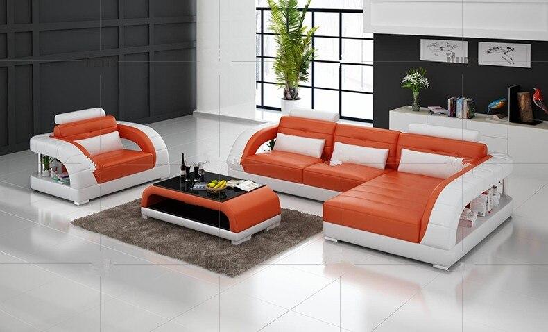 Modern Sectional Leather Sofa For Living Room Sofa L Shaped Sofa Design