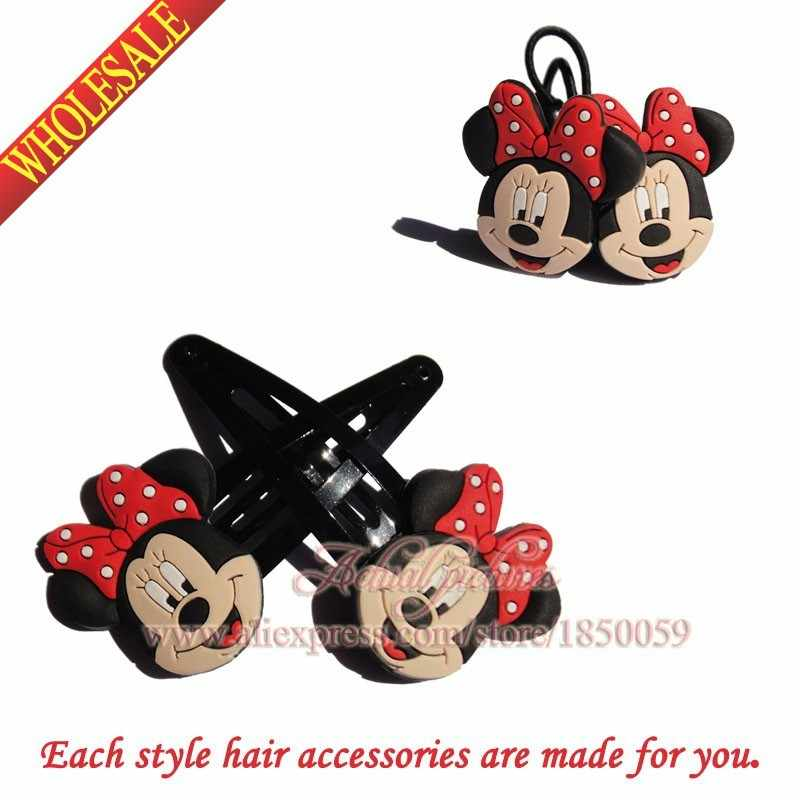 2Pairs Hot Styles Mickey Pig Lalaloopsy Hair Clip+Hair Band Headwear Kids Hair Accessories Kids Party Gifts Hair Jewelry