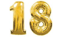 Elegant 18th BIRTHDAY PARTY DECORATION Kits 40 Inch GIANT GOLD Number 18 FOIL BALLOONS