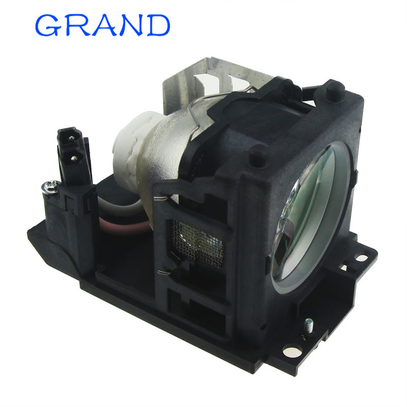 DT00691 Compatible Lamp With Housing For HITACHI CP-X440 CP-X443 CP-X444 CP-X445 CP-X455 Projectors Happybate