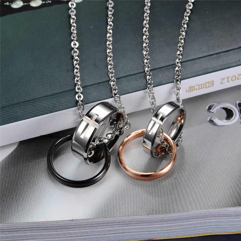ZORCVENS Новая мода влюбленные пары ювелирные изделия 316L нержавеющая сталь крест подвески ожерелье для женщин