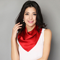 [LESIDA] Nova moda lenço de seda das mulheres lenços hijab foulard femme twilly lenço quadrado bandana soild headbandCS102