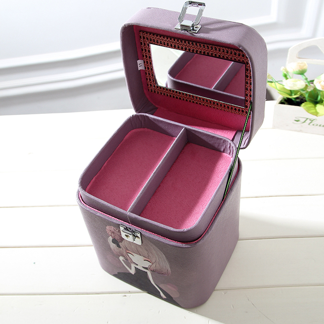 Korean Waterproof Women Makeup Bag PU Travel Organizer Multi layer Cosmetic Bag Make Up Case Toiletry Bag Case for cosmetics