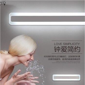 Basit Modern ayna ışık dolap duvar lambası Led Minimalist giyinme makyaj su geçirmez nem geçirmez banyo tuvalet yatak odası